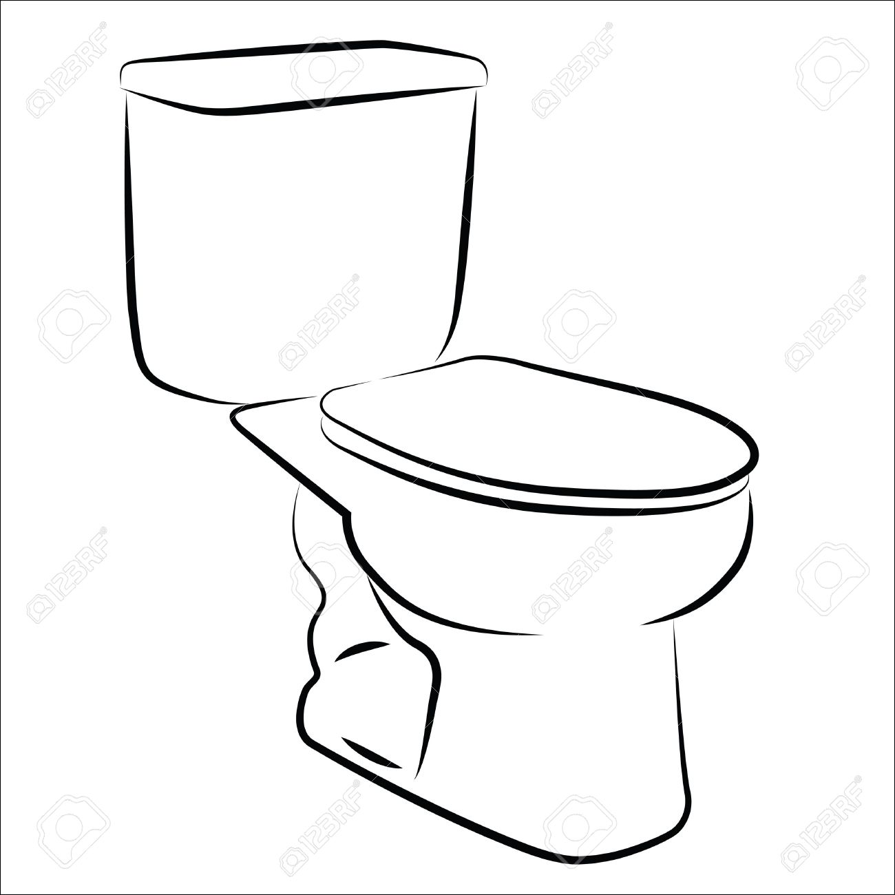 Toilet Clipart Black And White