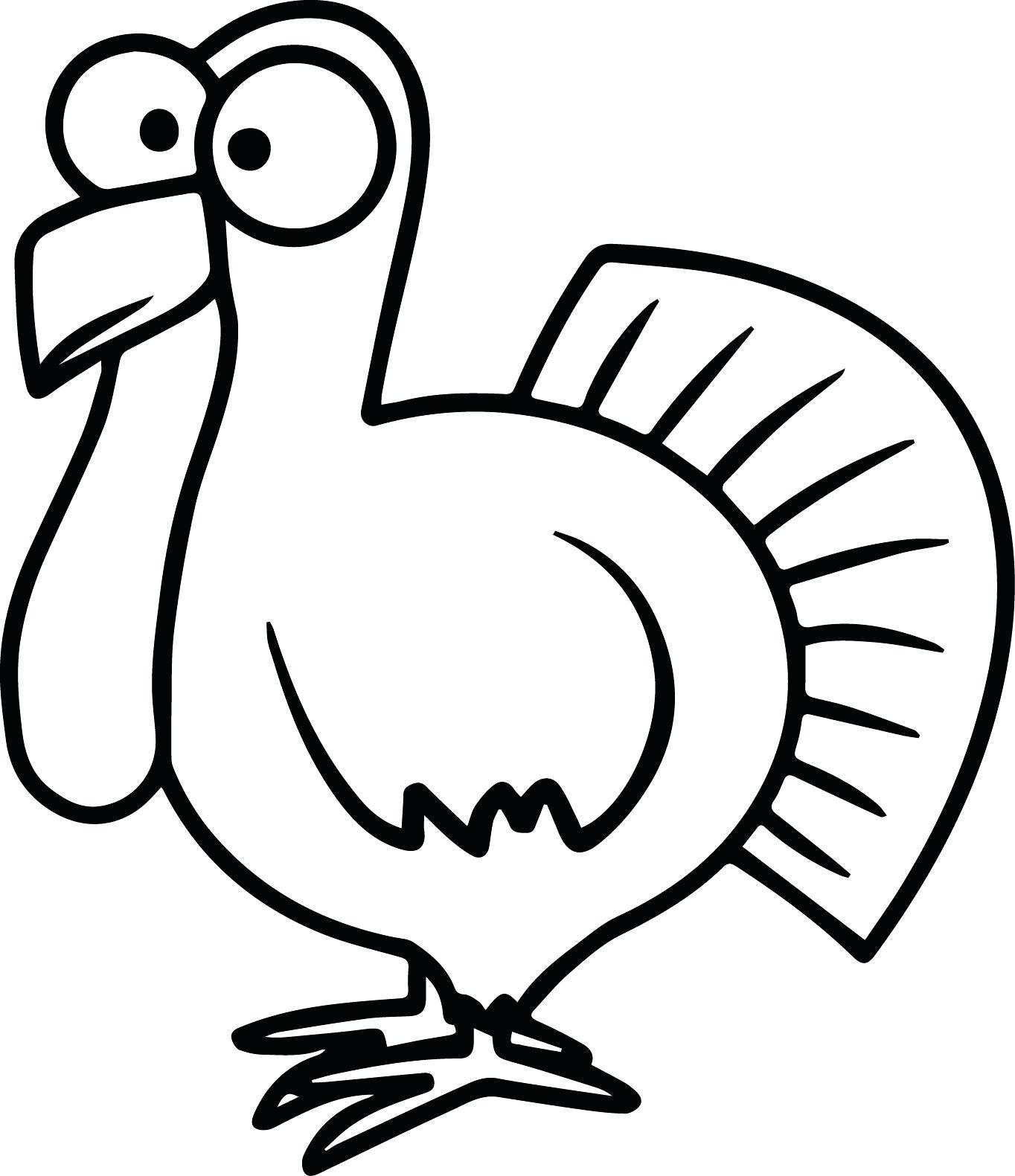 Turkey Black And White Clipart