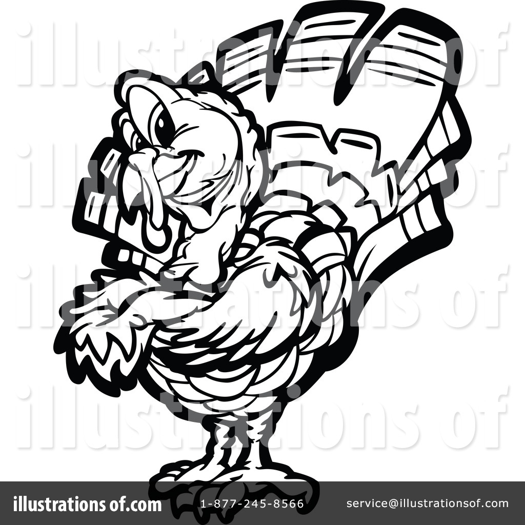 Turkey Clipart Black And White Free