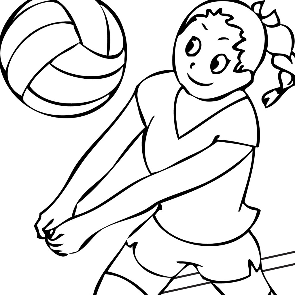 Volleyball Clipart Black And White