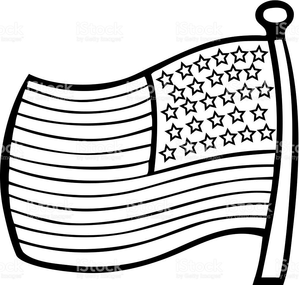 Waving American Flag Clipart