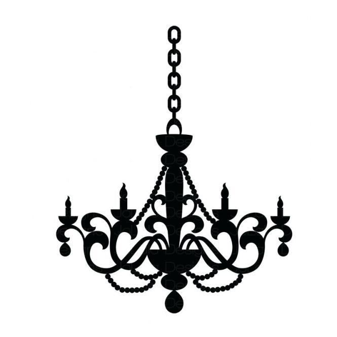800x800 Black Chandelier Clip Art Items Similar To Instant