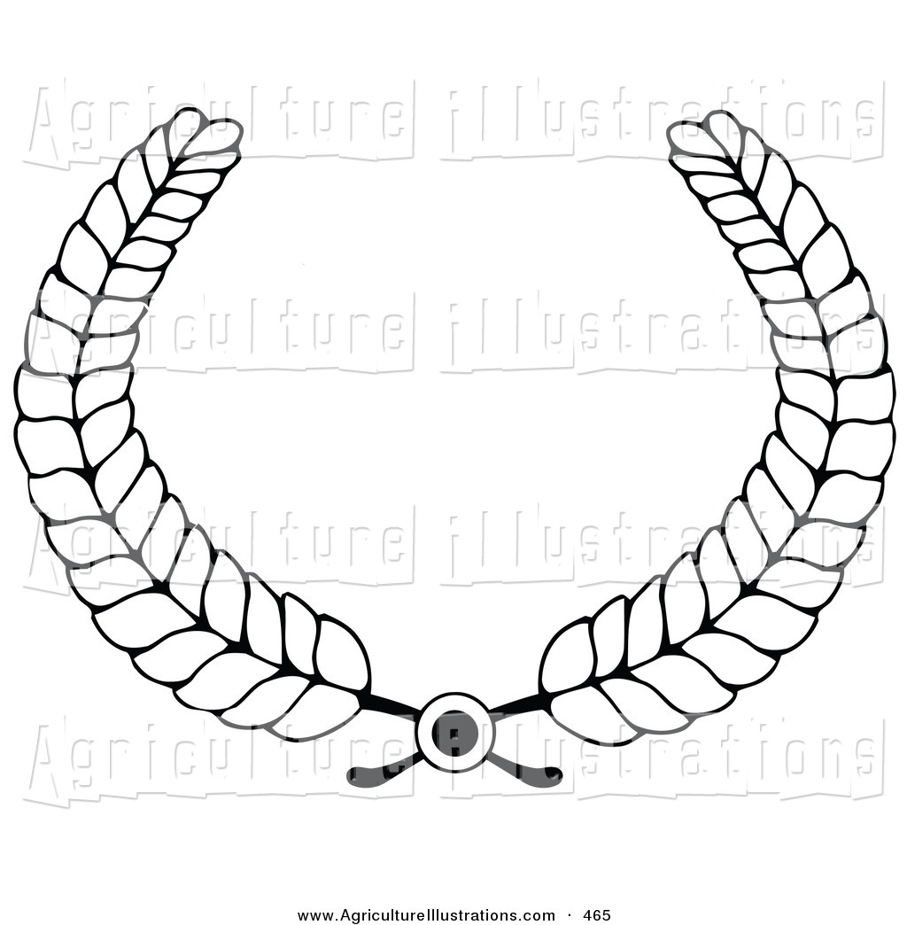 Wheat Clipart Black And White