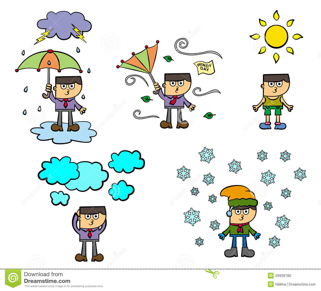 Windy Weather Clipart