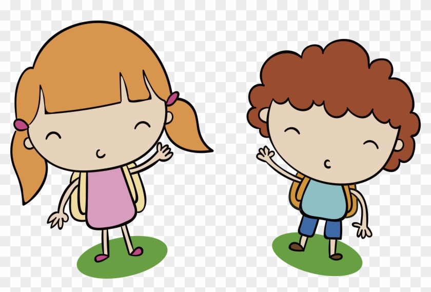 Boy And Girl Cute Clipart