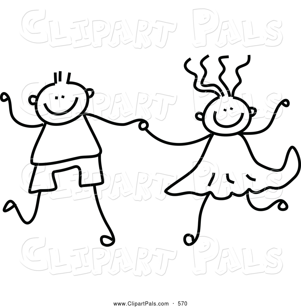 Pal Clipart Of A Black And White Coloring Page Of A Boy
