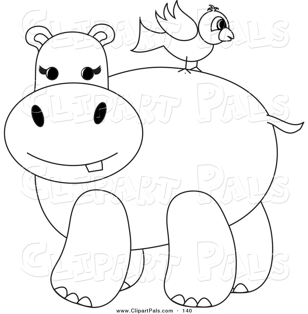 Pal Clipart Of A Coloring Page Outline Design Of A Bird On