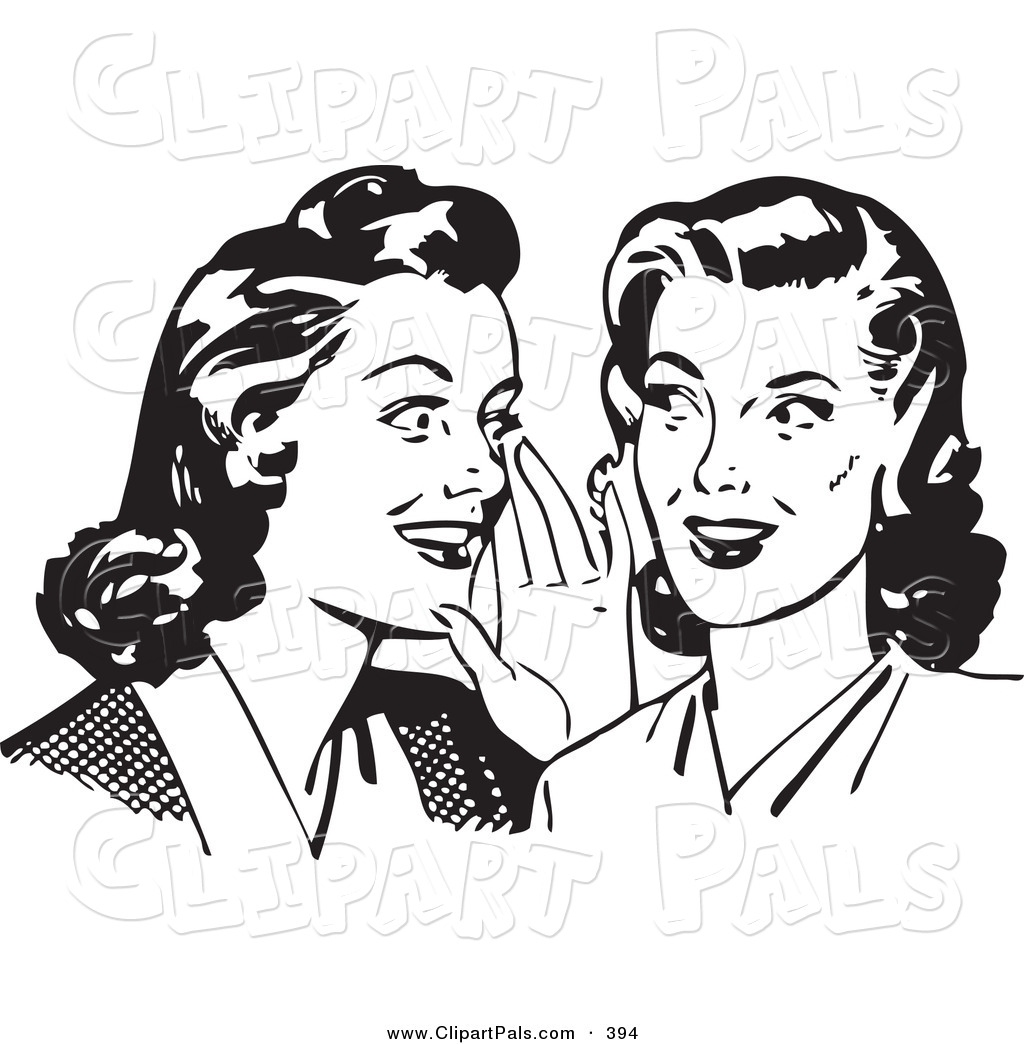 Pal Clipart Of A Retro Black And White Housewife Women