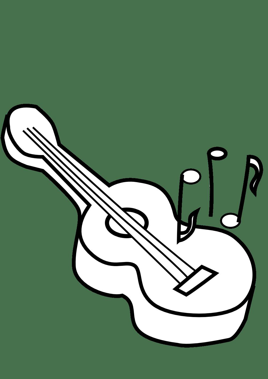 Black And White Guitar Clip Art
