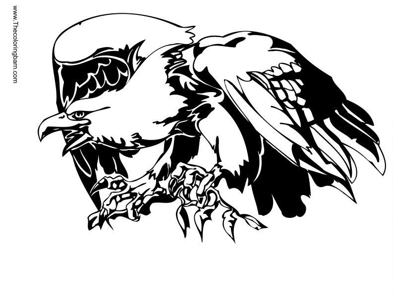 eagle tattoo coloring pages