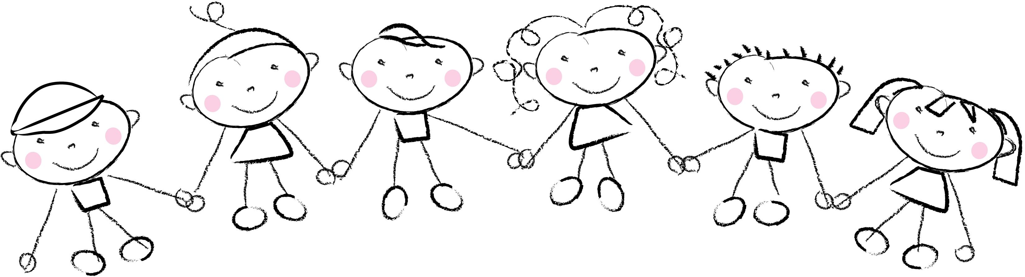 Children Holding Hands - Cliparts.co (3300 x 892 Pixel)