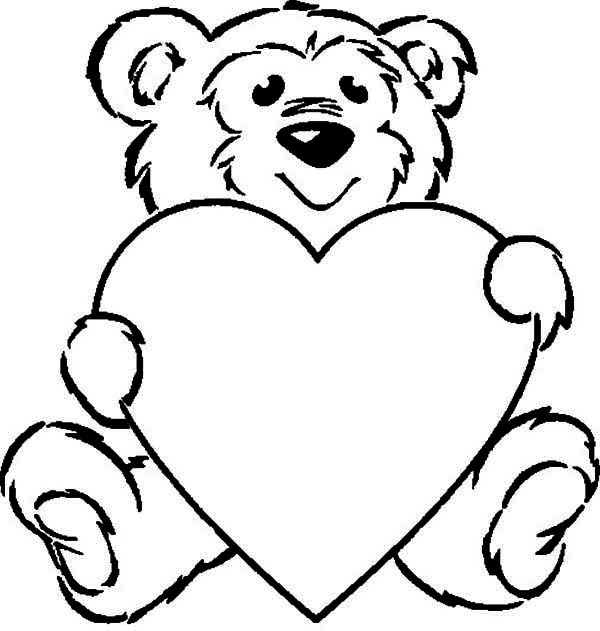 coloring pages teddy bear heart cooloring com
