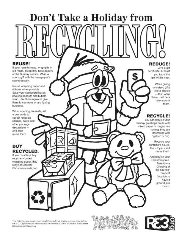 recycling colouring pages free coloring pages now
