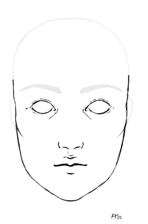 Face Template blank makeup face template template makeup face – Printable Face Templates