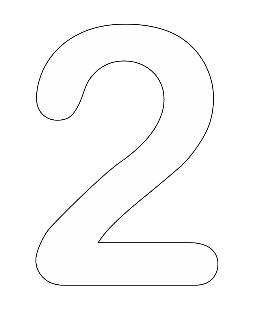 number 2 coloring pages selfcoloringpages com