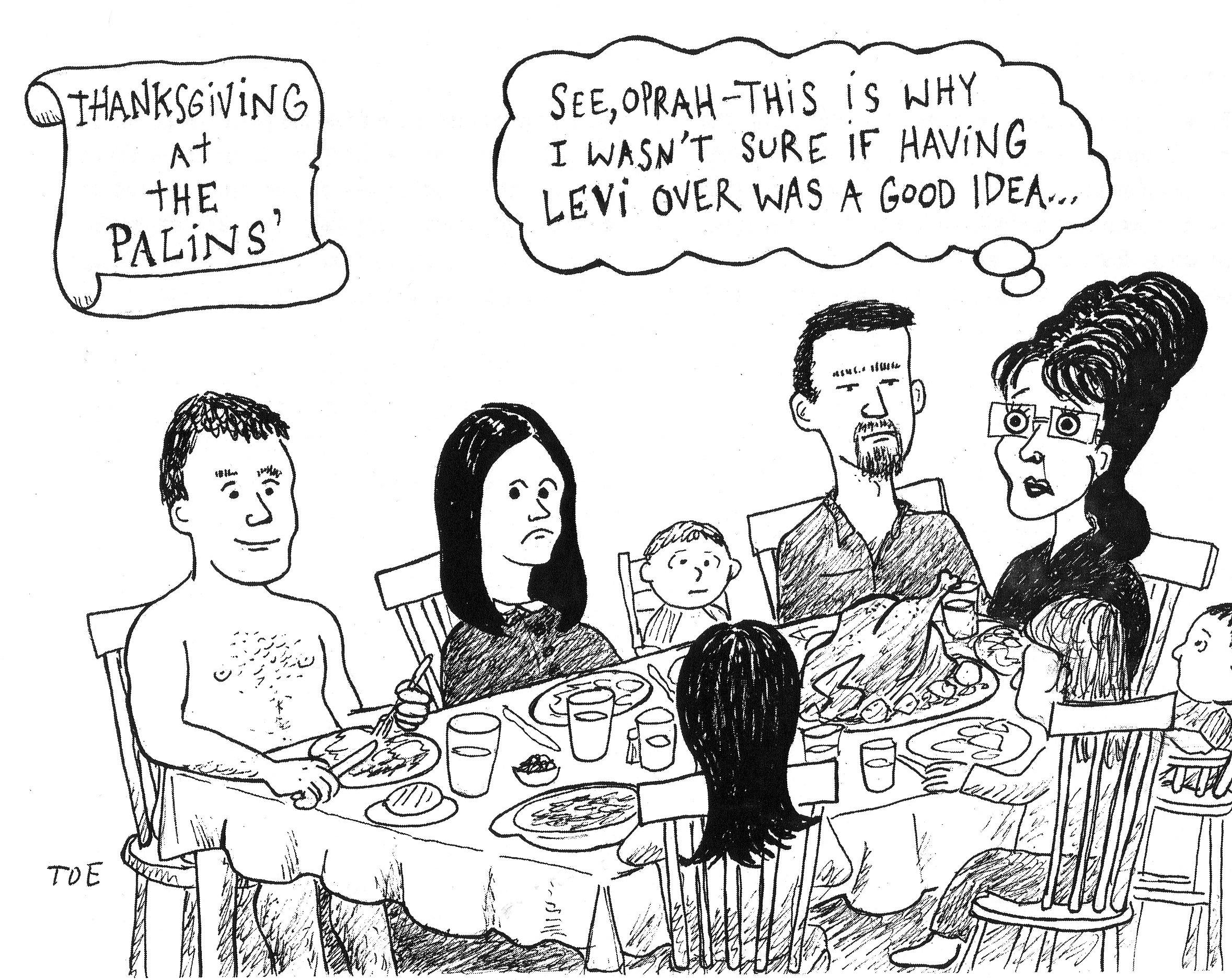 Cartoon Family Of 6