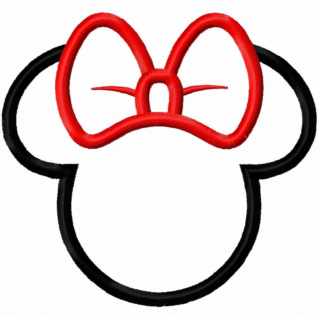 graphic regarding Mickey Mouse Silhouette Printable known as Mickey Mouse Template Ears. minnie mouse bow template