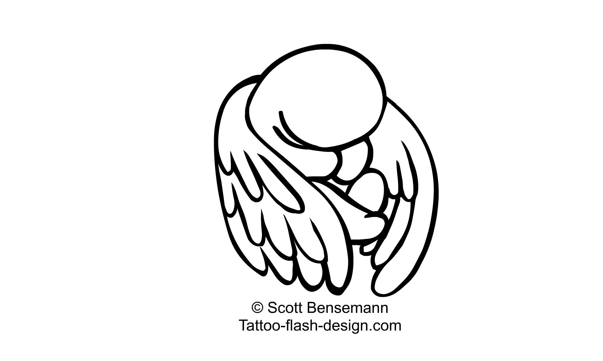 Angel Line Drawing