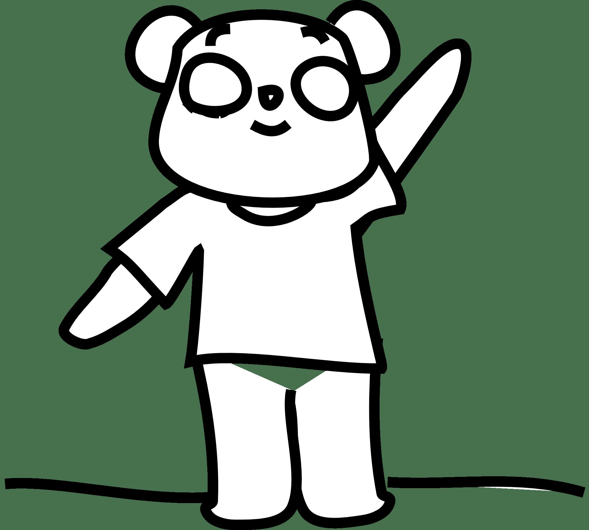 Teddy Bear Clip Art Black And White