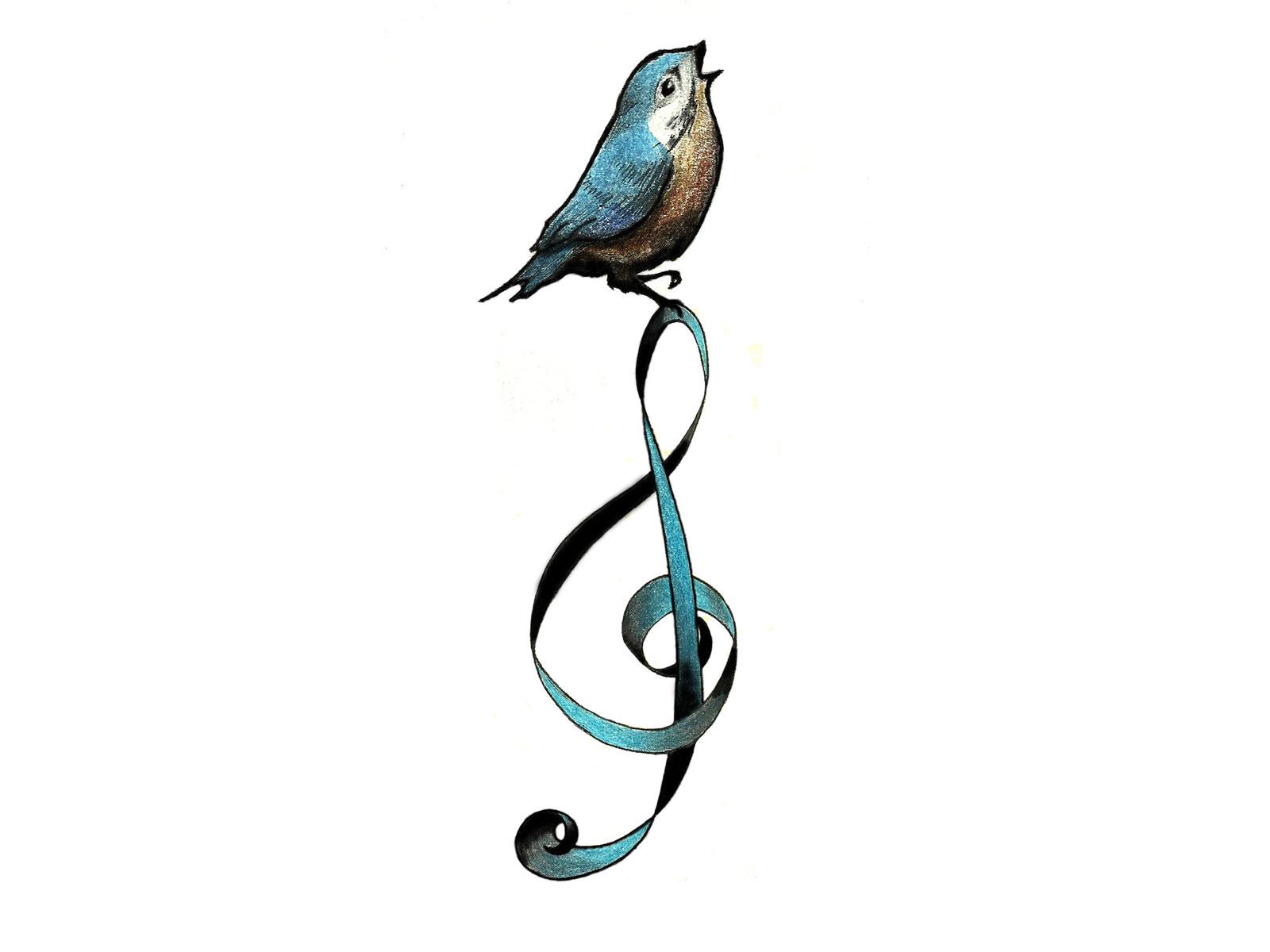 Cartoon Bird Tattoo