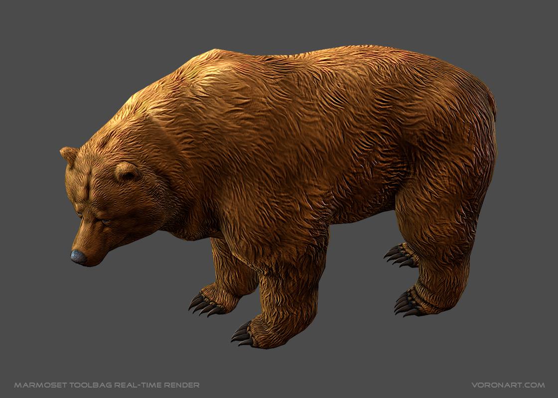 Animated Brown Bear