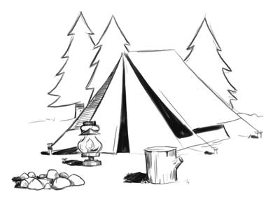 tent camping coloring pages cooloring com