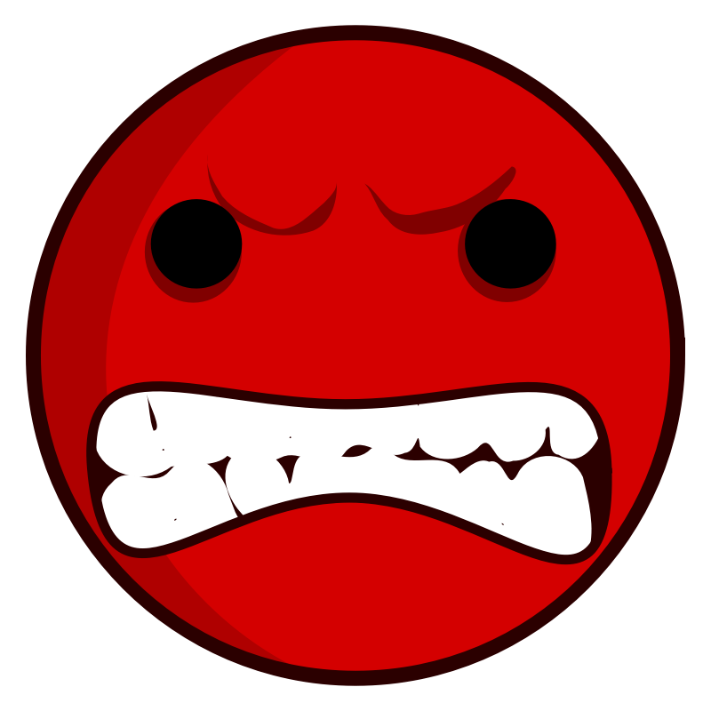 Clipart - angry face