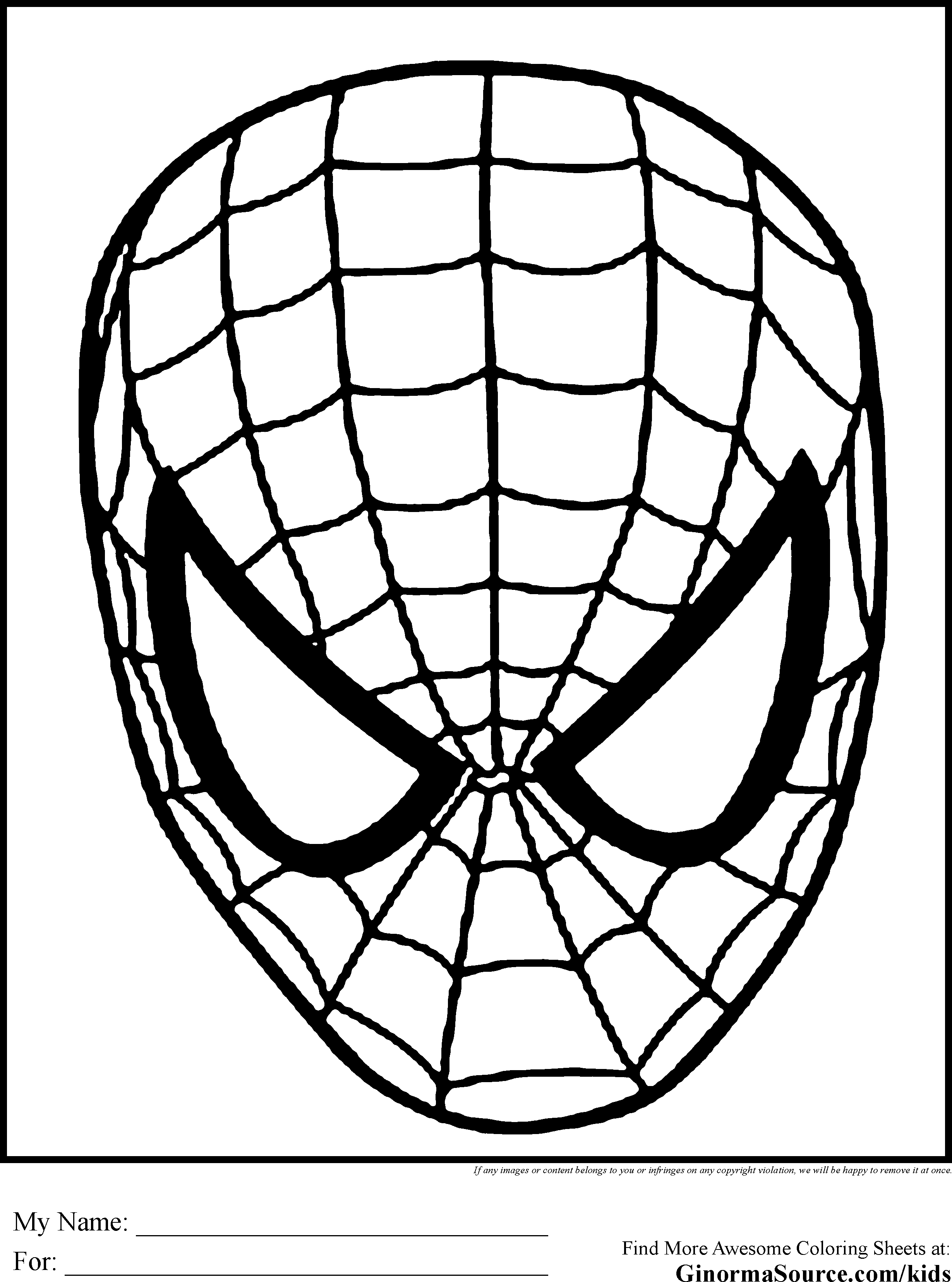 Spiderman Face Clipart