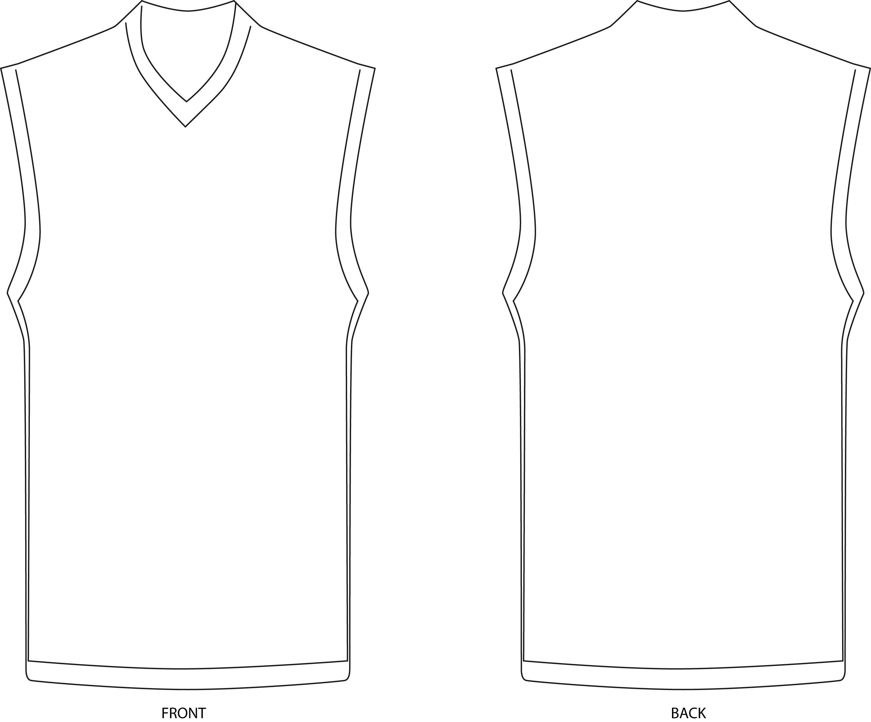 Football Jersey Coloring Template Coloring Pages