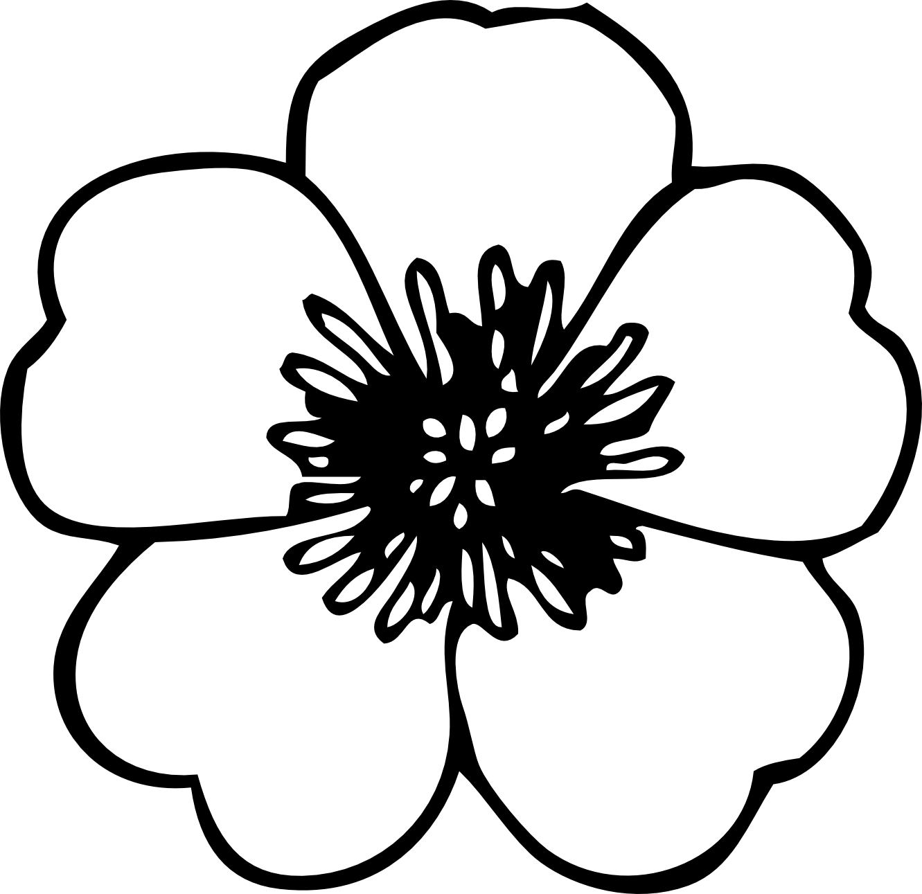 Spring Clip Art Free Black And White