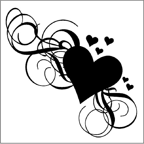 Download Fancy Heart Tattoos - Cliparts.co