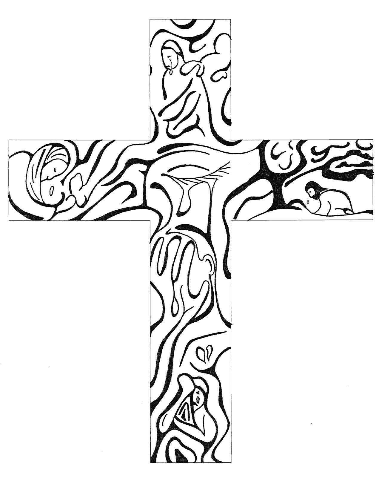 Wooden Cross Drawing