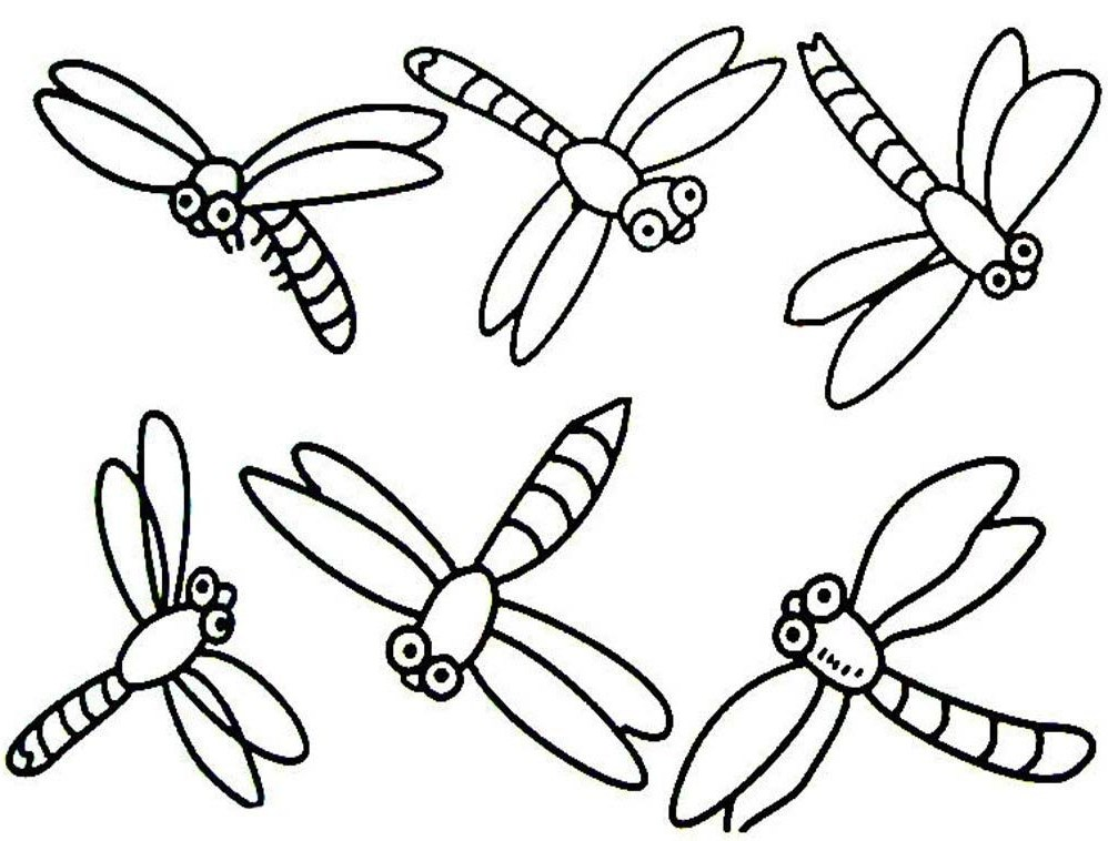 simple dragonfly coloring pages dragonfly cartoon coloring pages