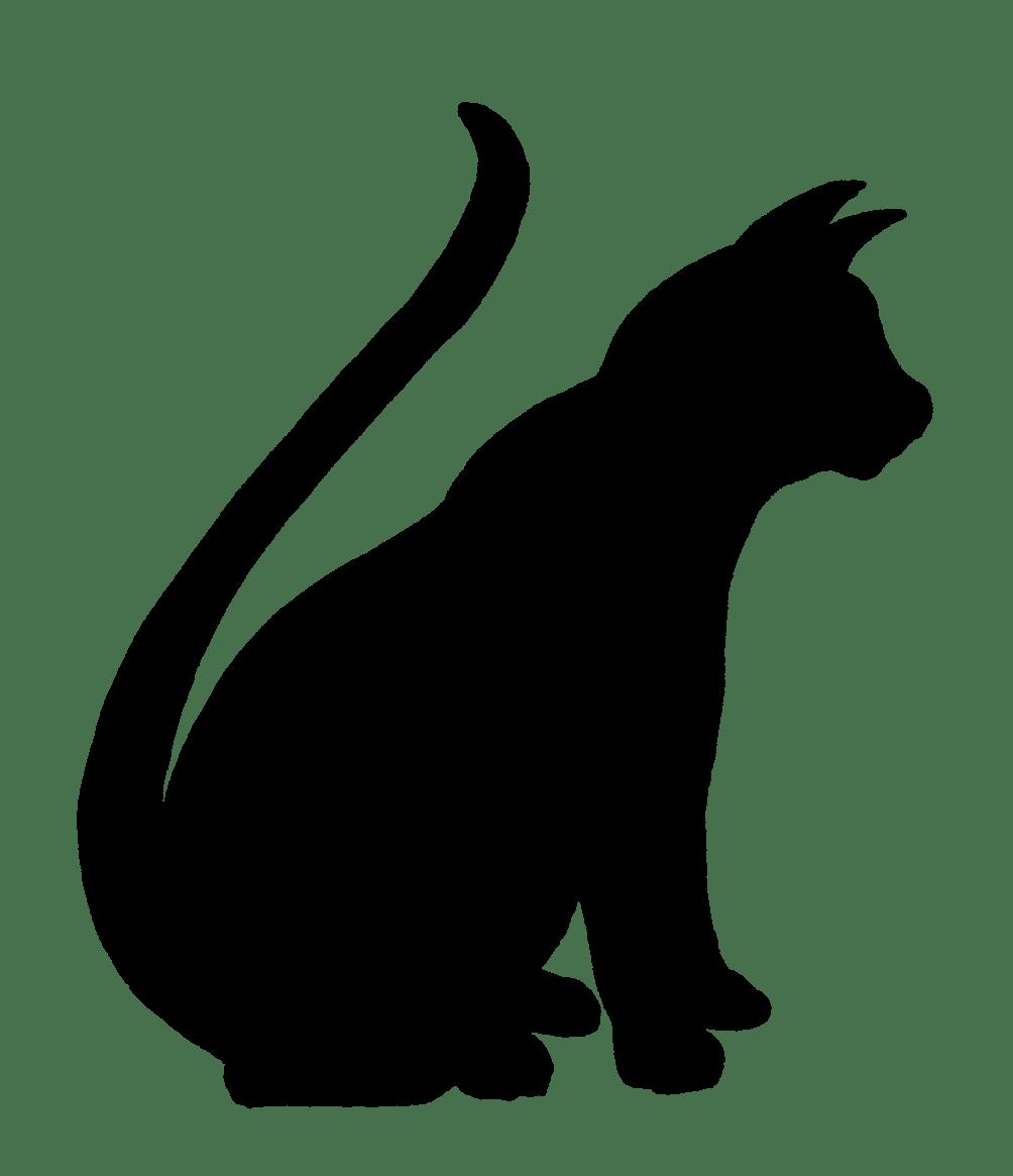 Black Cat Silhouette Clip Art - Cliparts.co (1004 x 1165 Pixel)