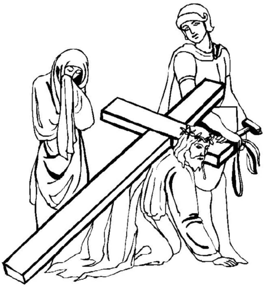 Black And White Drawings Of Jesus