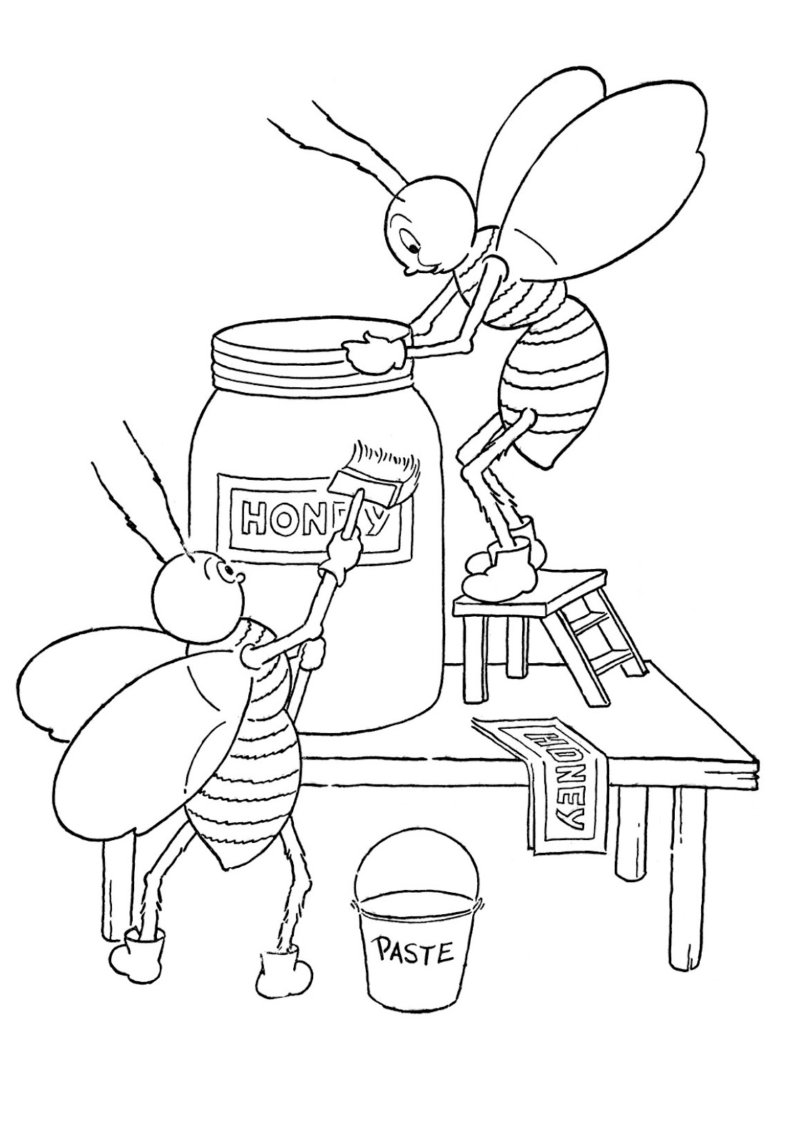 Honey Black And White Pictures For Kids