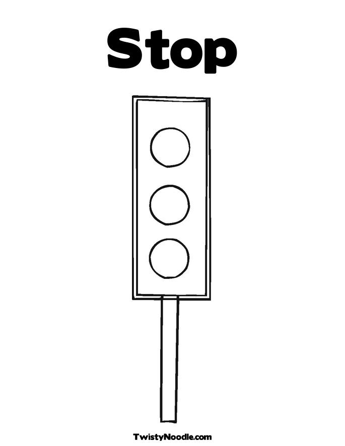 stop light coloring page