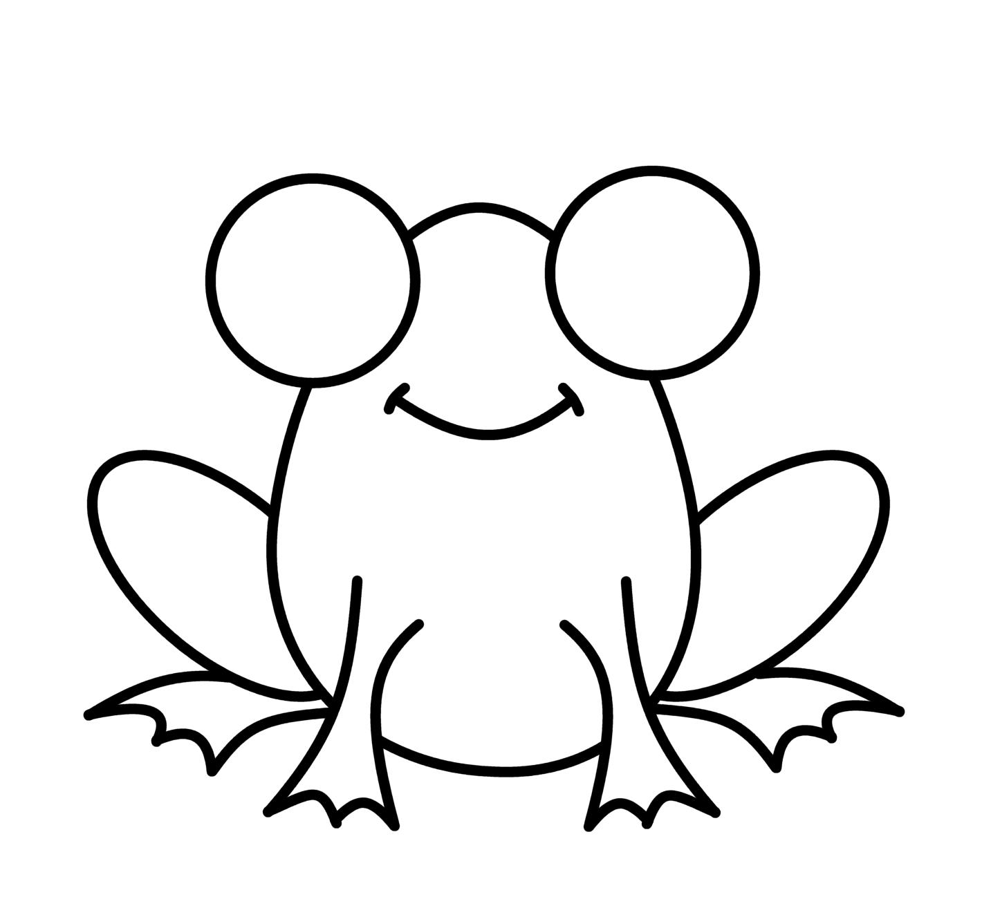 Cartoon Frog Drawings