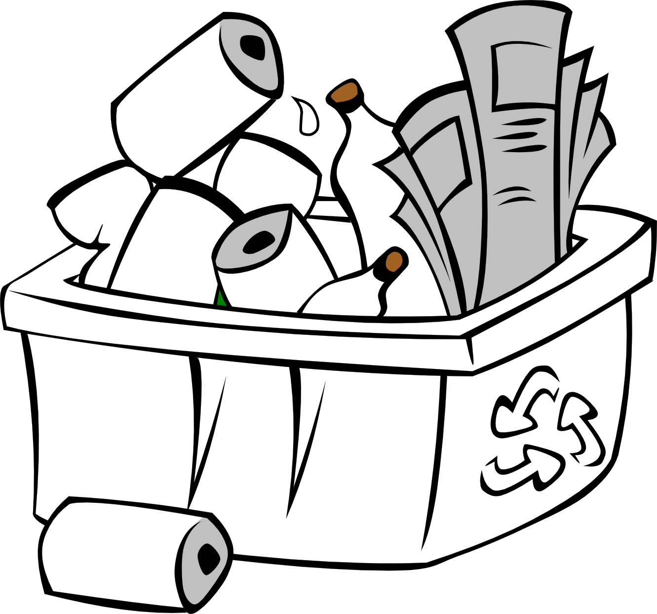 Recycle Clipart Black And White Clipart Panda