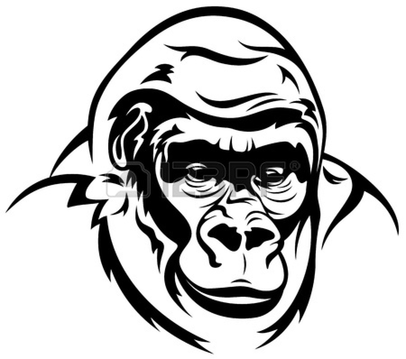 Cartoon Gorilla Clipart