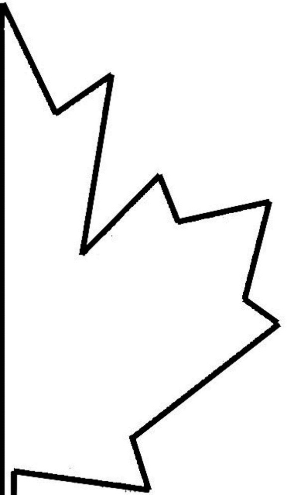 leaf cut out template of canada day coloring pages cliparts co
