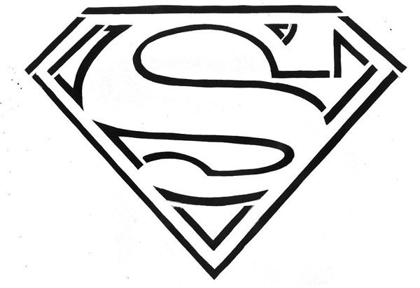 logos de superman para colorear  imagui