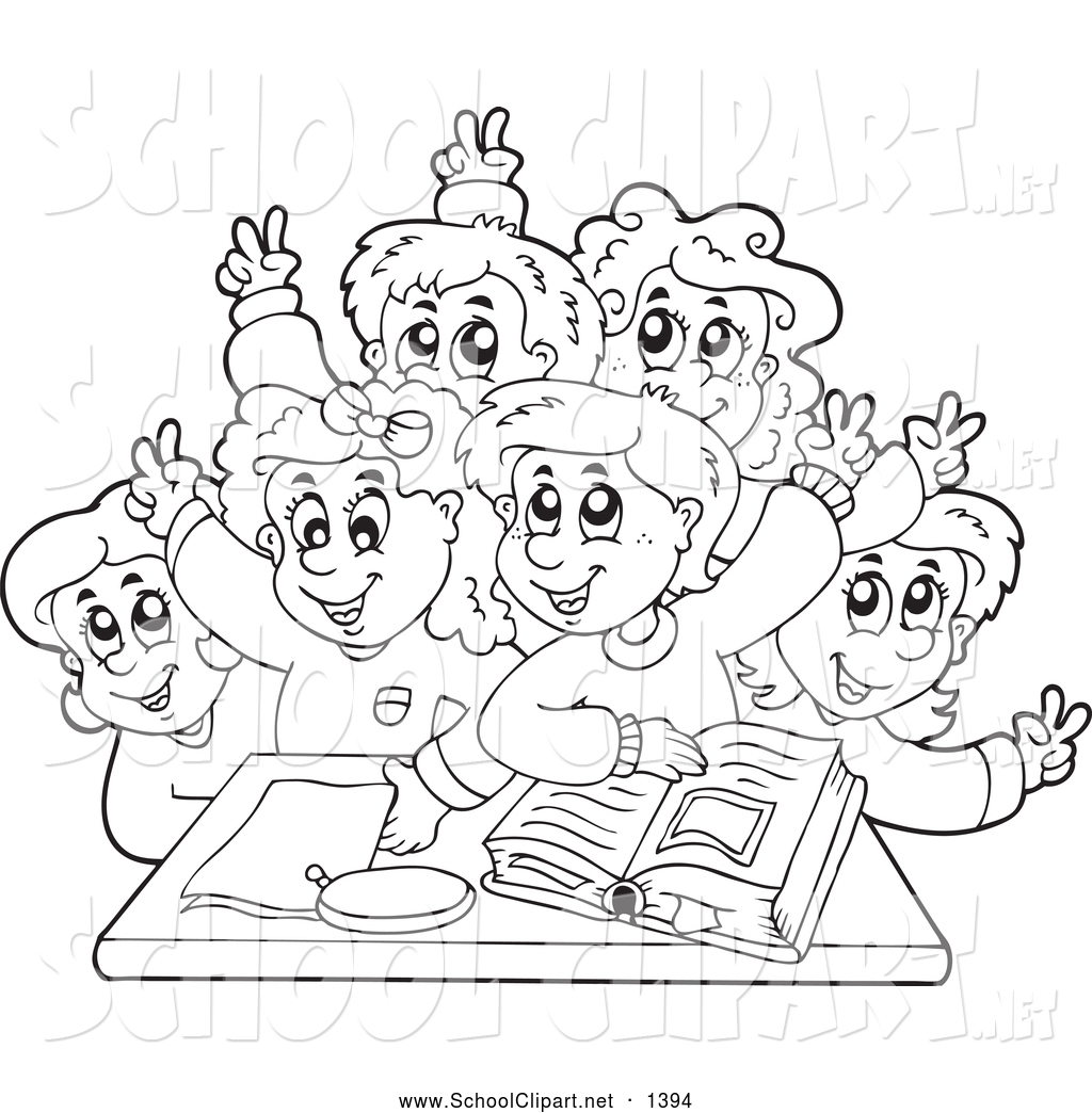 School Clipart Black And White