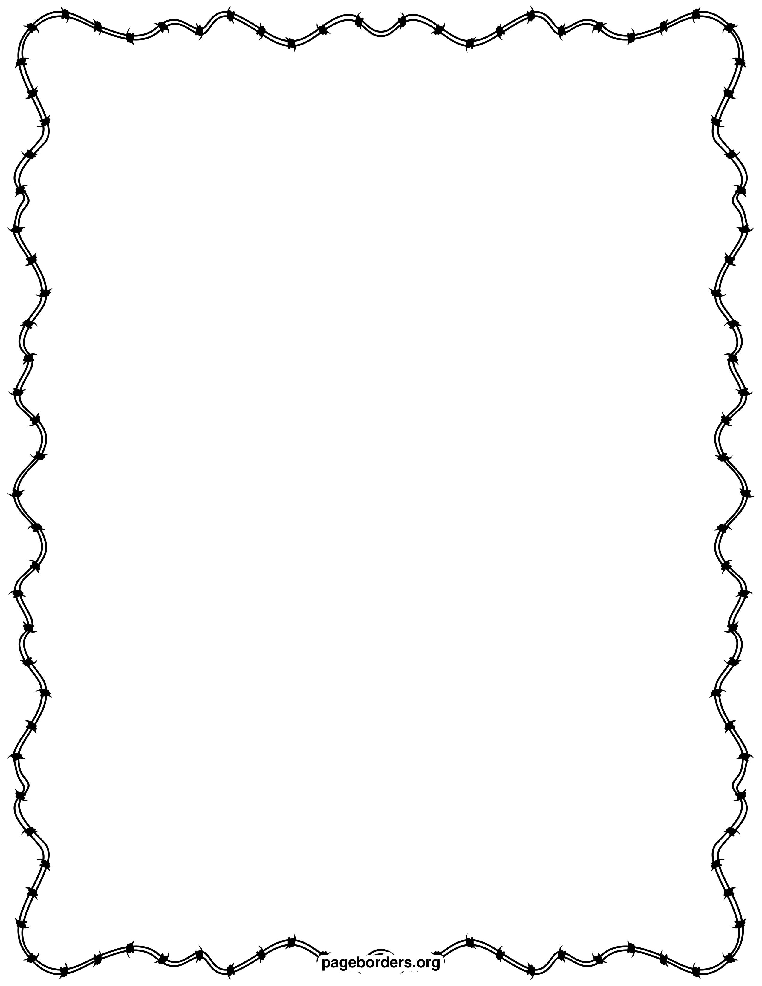 Barbed Wire Border Clip Art