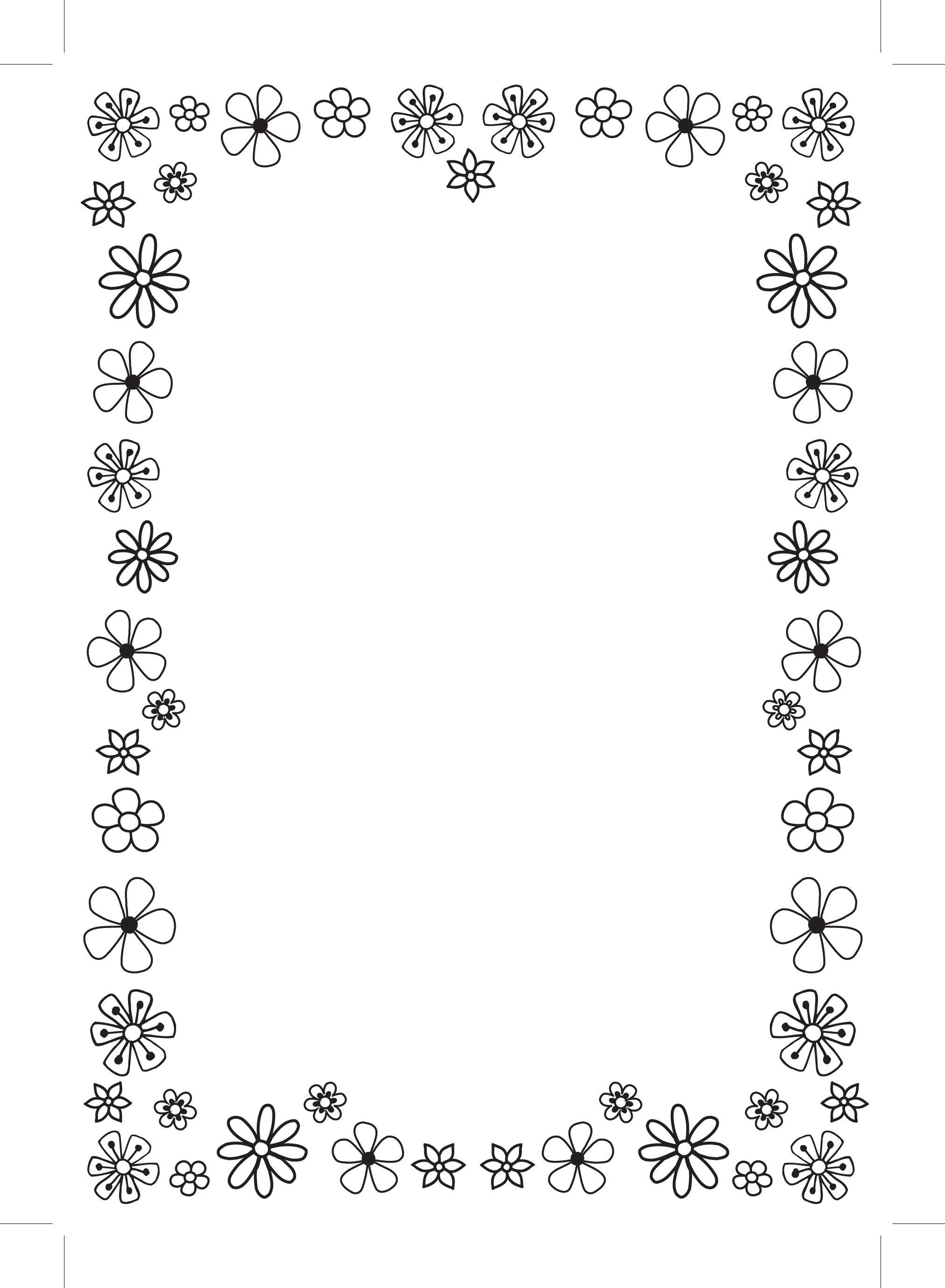 Simple Flower Border Designs For A4 Paper