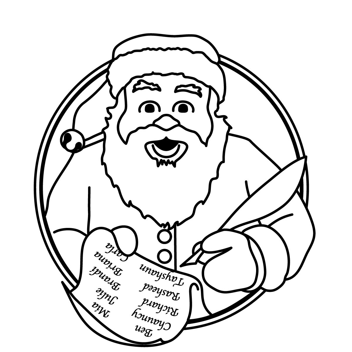 Black And White Holiday Clip Art