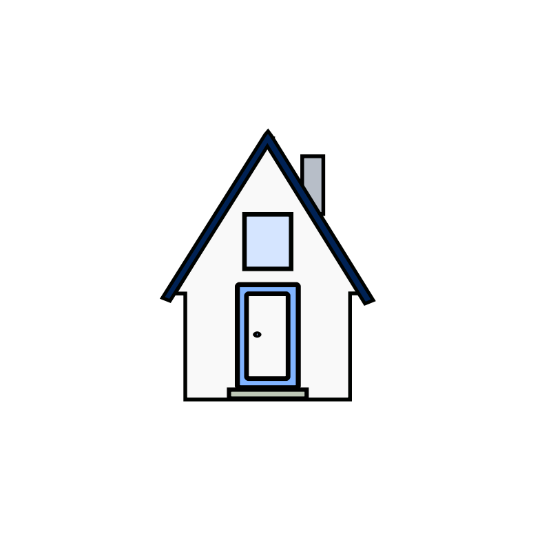 Gambar Rumah Hitam Putih Kartun Rumah Cla