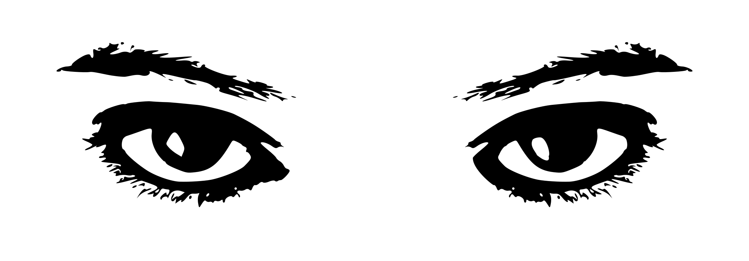 Looking Eyes Clip Art
