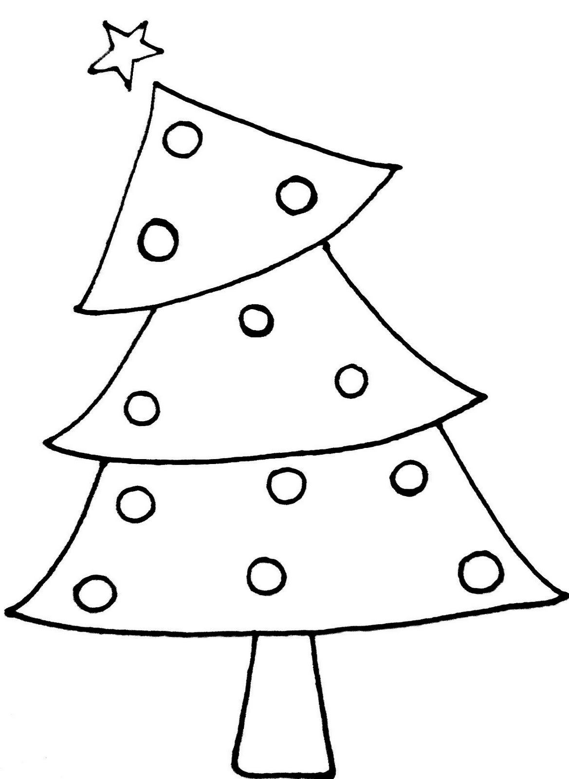 Black And White Christmas Tree Clip Art