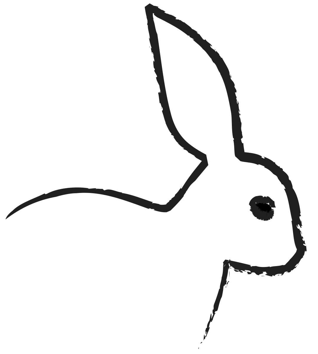 Outline Of Bunny Coloring Page Colouring Sheet